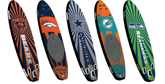 Inflatable Officially Licensed SUP Boards – NFL & NCAA